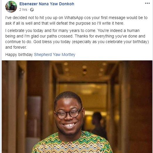 Shepherd Yaw Morttey: Happy Birthday To The Founder Of Mfidie.com As Tech Blog In Ghana