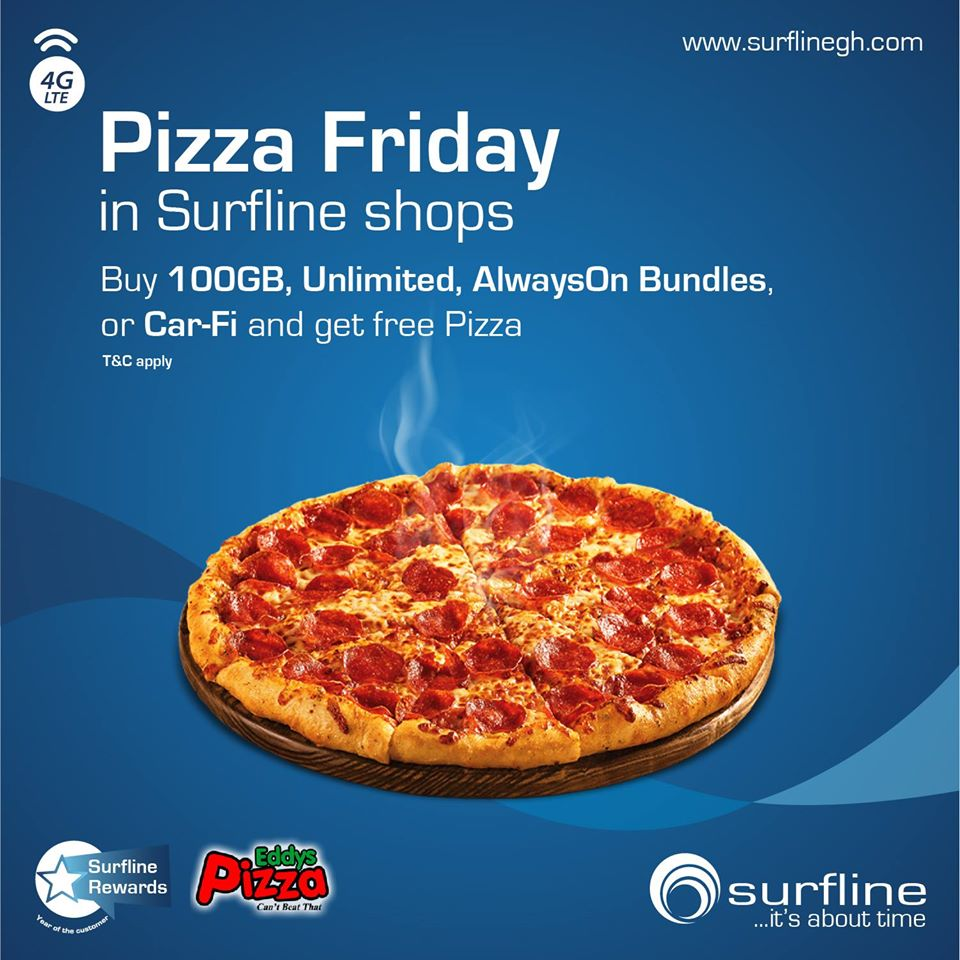 Friday Pizza In Surfline Shop