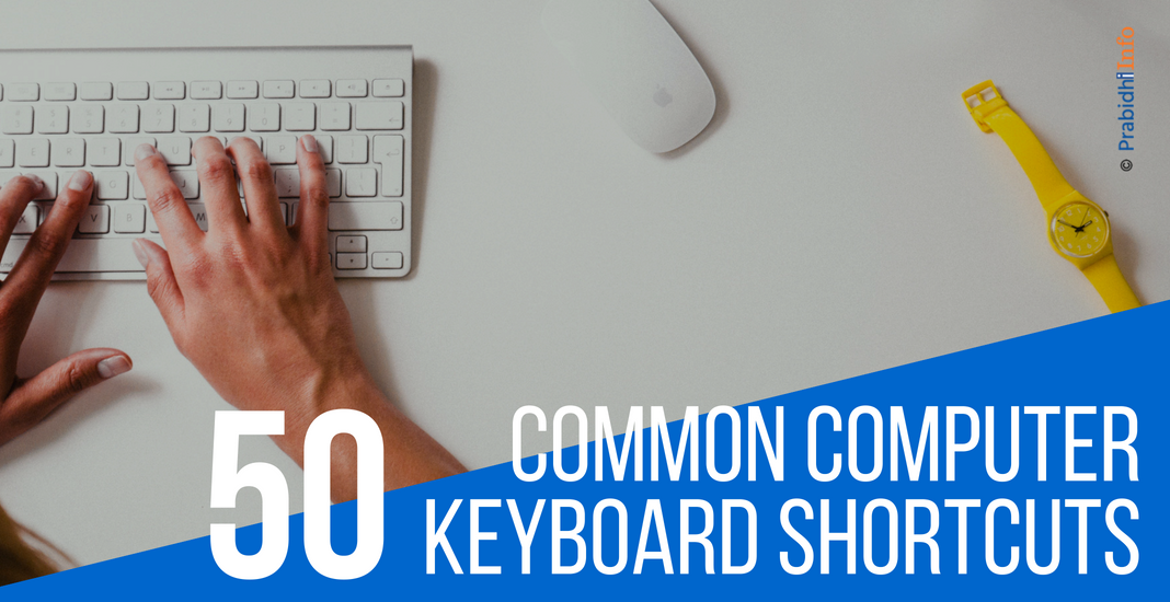 50 Common Computer Keyboard Shortcut Keys