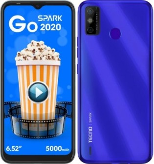 "Tecno Spark Go 2020 Announced: 6.52"" Display, 5,000 mAh battery, And Android 10 (Go Edition)"