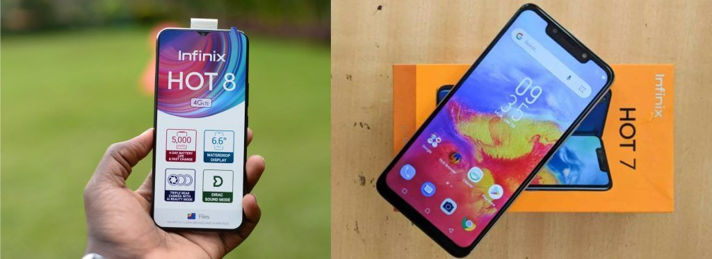 Difference Between Infinix Hot 8 and Infinix Hot 7